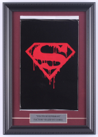 "1992 ""Superman"" 11x15.5 Custom Framed Issue #75 DC Comic Book Black Bag Collector's Set at PristineAuction.com"