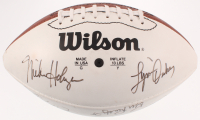 NFL Hall of Famers & Stars White Panel Football Signed By (17) With Ted Hendricks, Chuck Noll, Jim Taylor & Tom Fears (JSA LOA) at PristineAuction.com