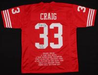 "Roger Craig Signed Career Highlight Stat Jersey Inscribed ""3x SB Champ"" (JSA COA) at PristineAuction.com"