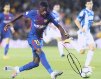 Ousmane Dembele Signed Barcelona 8x10 Photo (Beckett COA) at PristineAuction.com