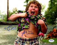 "Jeff Cohen Signed ""The Goonies"" 8x10 Photo Inscribed ""Truffle Shuffle"" & ""Chunk"" (PSA Hologram) at PristineAuction.com"