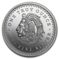 "1 Troy Ounce .999 Silver ""Aztec Calendar"" Bullion Round at PristineAuction.com"