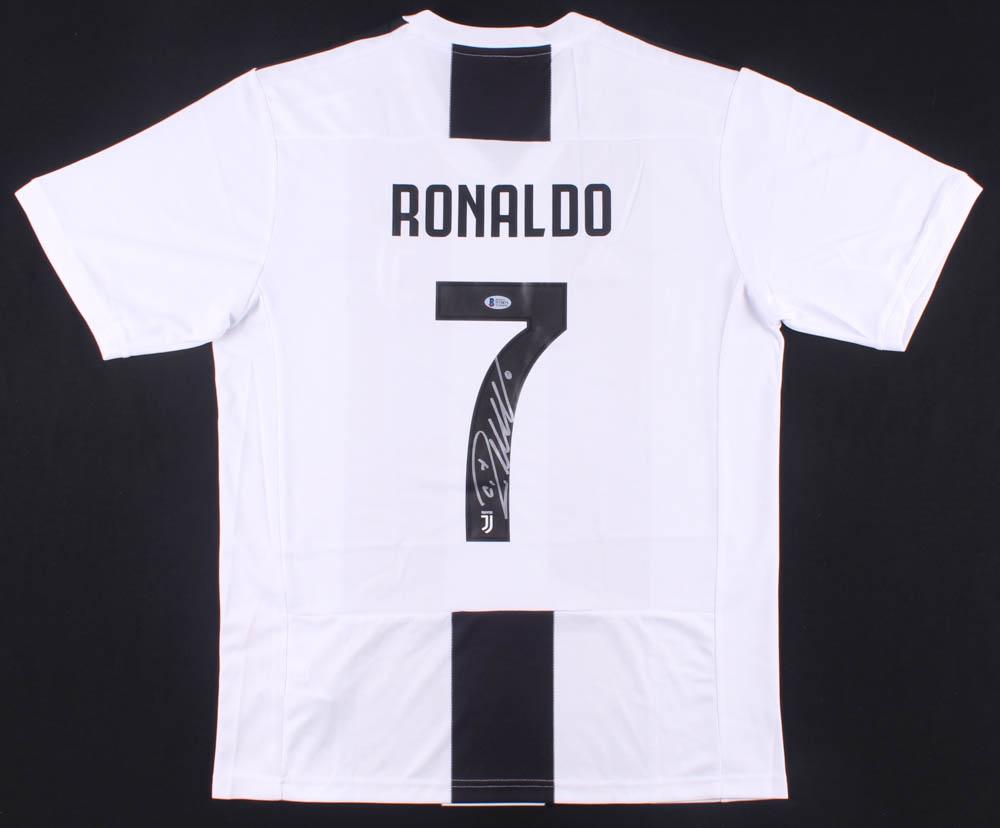 cristiano ronaldo signed juventus jersey beckett coa pristine auction pristine auction