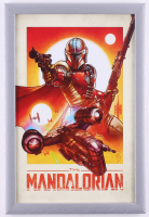 """The Mandolorian"" 12.5x18.5 Custom Framed Print Display at PristineAuction.com"