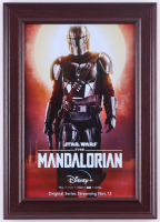 """The Mandolorian"" 14.5x20.5 Custom Framed Print Display at PristineAuction.com"