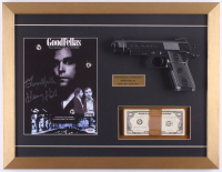 "Henry Hill Signed ""Goodfellas"" 17x22 Custom Framed Print Display Inscribed ""Goodfella"" with Replica Gun & Prop Money (PSA COA) at PristineAuction.com"