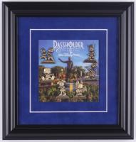 Walt Disney World Commemorative 12x12.5 Custom Framed Passholder Pin Display with (6) Bronze Pins at PristineAuction.com