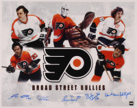 """Flyers 16x20 Photo Signed by (4) with Reggie Leach, Bill Barber, Bernie Parent, Bobby Clarke, & Dave """"The Hammer"""" Schultz (COJO COA) at PristineAuction.com"""