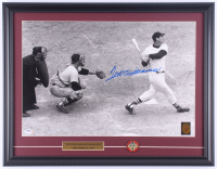 """Ted Williams Signed Red Sox """"Last Home Run"""" 17x21 Custom Framed Photo Display with MVP Pin (PSA LOA & Ted Williams Hologram) at PristineAuction.com"""