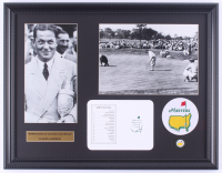 "Bobby Jones ""The Masters"" 16x20 Custom Framed Photo Display with Official Augusta Scorecard & Masters Pin at PristineAuction.com"
