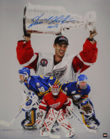 "Dominik Hasek Signed 16x20 Photo Inscribed ""HOF 14"" (COJO COA) at PristineAuction.com"