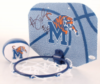 Penny Hardaway Signed Memphis Tigers Indoor Basketball Hoop With Memphis Tigers Logo Basketball (JSA COA) at PristineAuction.com