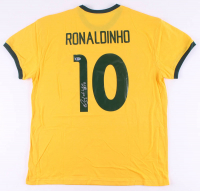 "Ronaldinho Signed Jersey Inscribed ""R10"" (Beckett COA) at PristineAuction.com"