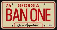 "Burt Reynolds Signed ""Smokey & The Bandit"" 6x12 License Plate (Beckett COA) at PristineAuction.com"