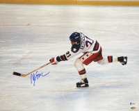 """Mike Eruzione Signed Team USA """"Miracle on Ice"""" 16x20 Photo (Beckett COA & Leaf Hologram) at PristineAuction.com"""
