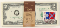 Lot of (50) 1976 First Day of Issue $2 Two-Dollar U.S. Federal Reserve Notes with Postmarks & Stamps at PristineAuction.com