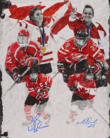 Marie-Philip Poulin & Hayley Wickenheiser Team Canada 16x20 Photo (COJO COA) at PristineAuction.com
