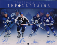 Maple Leafs 16x20 Photo Signed by (4) with Mats Sundin, Darryl Sittler, Doug Gilmour, & Wendell Clark (COJO COA) at PristineAuction.com