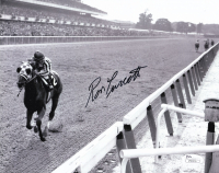 Ron Turcotte Signed 1973 Belmont Stakes 8x10 Photo with Secretariat (JSA COA) at PristineAuction.com