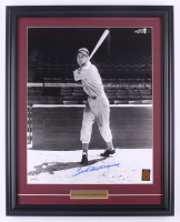 Ted Williams Signed Red Sox 20x25 Custom Framed Vintage Photo Display (PSA LOA & Ted Williams Hologram) at PristineAuction.com