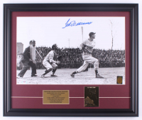 """Ted Williams Signed Red Sox """"First Home Run"""" 19.5x23.5 Custom Framed Photo Display with 23 KT Gold Card (PSA LOA & Ted Williams Hologram) at PristineAuction.com"""
