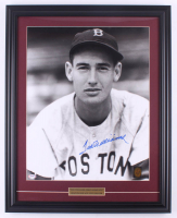 Ted Williams Signed Red Sox 20x25 Custom Framed Photo Display (PSA LOA & Ted Williams Hologram) at PristineAuction.com