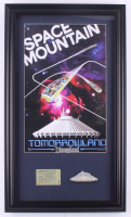 """Disneyland """"Space Mountain"""" 15.5x26.5 Custom Framed Print with Ticket & Vintage Resin Space Mountain Magnet at PristineAuction.com"""