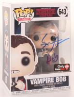 "Sean Astin Signed ""Stranger Things"" Vampire Bob #643 Funko Pop! Vinyl Figure Inscribed ""Bob"" (JSA COA) at PristineAuction.com"