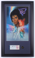 "Disneyland ""Captain EO"" 15.5x26.5 Custom Framed Print with Vintage Ticket book & Captain EO Pin at PristineAuction.com"