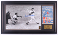 """Ted Williams Signed Red Sox """"Last Home Run"""" 17.5x29.5 Custom Framed Photo Display with 1954 Red Sox Program (PSA LOA & Williams Hologram) at PristineAuction.com"""