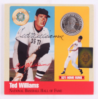 Ted Williams Signed LE National Baseball Hall of Fame Pure Solid Silver Coin Display (Ted Williams COA) at PristineAuction.com