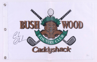 "Chevy Chase Signed ""Caddyshack"" Bushwood Country Club Pin Flag (JSA COA) at PristineAuction.com"