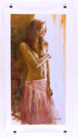 "Vidan Signed ""Untitled #7"" LE 14x28 Giclee on Canvas at PristineAuction.com"