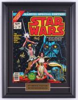 "Vintage 1977 ""Star Wars"" Marvel 14x18 Custom Framed Comic Book Display at PristineAuction.com"