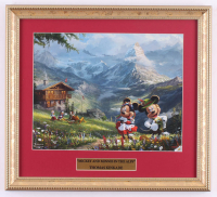 "Thomas Kinkade Walt Disney's ""Mickey and Minnie in the Alps"" 14x16 Custom Framed Print Display at PristineAuction.com"