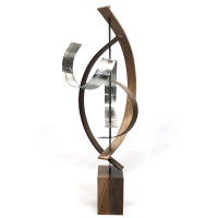 """Lift"" 10x29x12 Modern Wood Sculpture by Jackson Wright at PristineAuction.com"