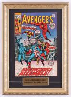 "Vintage 1970 ""The Avengers"" Marvel 11x15 Custom Framed Comic Book Display at PristineAuction.com"