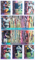 Complete Set of (180) 1995 Bowman's Best Refractor Football Cards with #V10 Barry Sanders, #V47 Dan Marino, #V85 Jerry Rice, #V43 Brett Favre, #V8 Troy Aikman, #V37 Emmitt Smith at PristineAuction.com