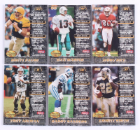 Complete Set of (180) 1995 Bowman's Best Refractor Football Cards with #V10 Barry Sanders, #V47 Dan Marino, #V85 Jerry Rice, #V43 Brett Favre, #V8 Troy Aikman, #V37 Emmitt Smith at PristineAuction.com