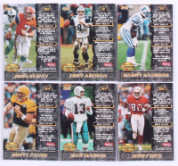 Near Complete Set of (177/180) 1995 Bowman's Best Refractor Football Cards with #V10 Barry Sanders, #V47 Dan Marino, #V85 Jerry Rice, #V43 Brett Favre, #V8 Troy Aikman, #V90 John Elway at PristineAuction.com