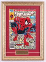 """Vintage 1990 """"Spider-Man"""" Marvel 11x15 Custom Framed Comic Book Display at PristineAuction.com"""