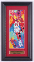 "LeRoy Neiman ""Michael 'Air' Jordan"" 8x15 Custom Framed Print Display at PristineAuction.com"