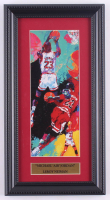 "LeRoy Neiman ""Michael 'Air' Jordan"" 8x15 Custom Framed Print Display at PristineAuction.com"