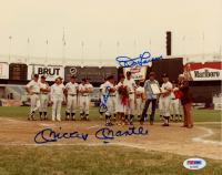 Mickey Mantle, Yogi Berra, & Don Larsen Signed Yankees 8x10 Photo (PSA LOA) at PristineAuction.com
