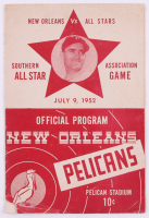 Vintage 1952 Pelicans Southern All Star Association Game Official Program at PristineAuction.com