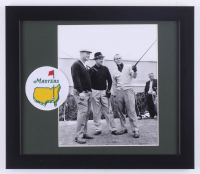 Jack Nicklaus, Arnold Palmer & Sam Snead 13x15 Custom Framed Photo Display with Official Masters Tournament Patch at PristineAuction.com