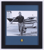 Arnold Palmer 13x15 Custom Framed Photo Display with Official Masters Tournament Pin at PristineAuction.com