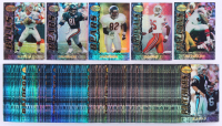 Complete Set of (180) 1995 Bowman's Best Refractor Football Cards with #V1 Rob Moore, #R52 Jack Johnson, #V@ Craig Heyward, #V3 Jim Kelly, #V5 Jeff Graham at PristineAuction.com