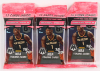 Lot of (3) 2019-20 Panini Mosaic Prizm Basketball Cello Packs with (15) Cards Each at PristineAuction.com