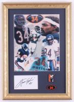 Walter Payton Signed Bears 12x16 Custom Framed Index Card Display (PSA) at PristineAuction.com